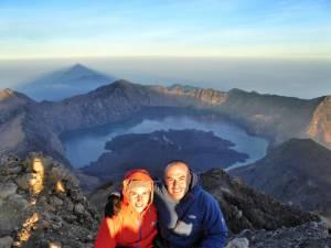 Indonesia, Lombok, cima del monte Rinjani